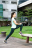 HUNTER GREEN REFLECTIVE DOTS LEGGINGS (L)