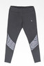GREY PATCHWORK LEGGINGS (L)