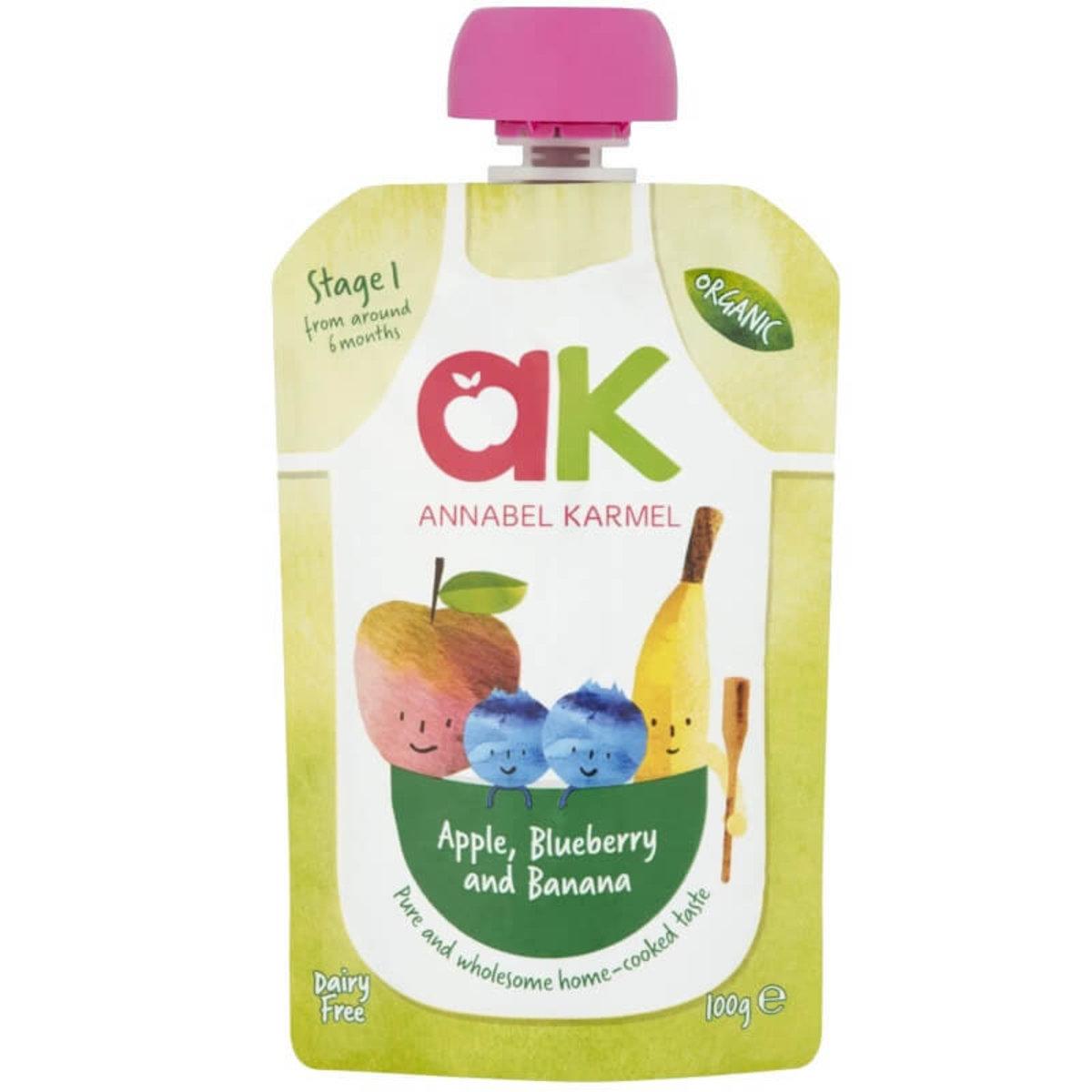 Organic Apple, Blueberry&Banana Puree 100g (6 mos+)