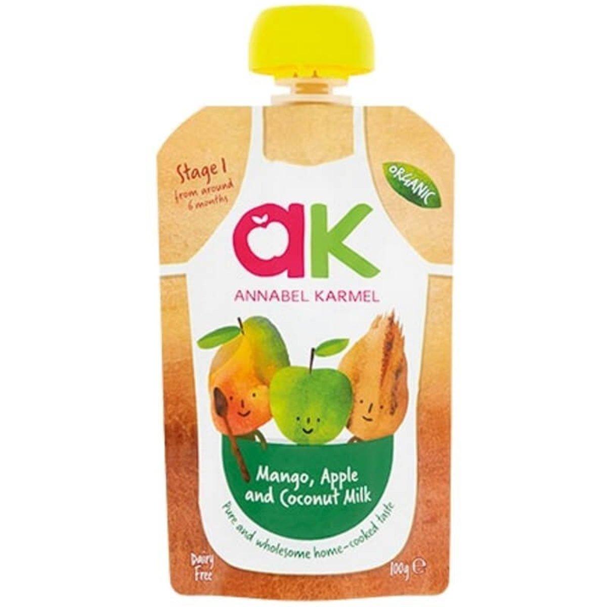 有機糊仔  (芒果,蘋果和椰奶) 100g 適合6個月以上嬰兒食用 嬰兒食品