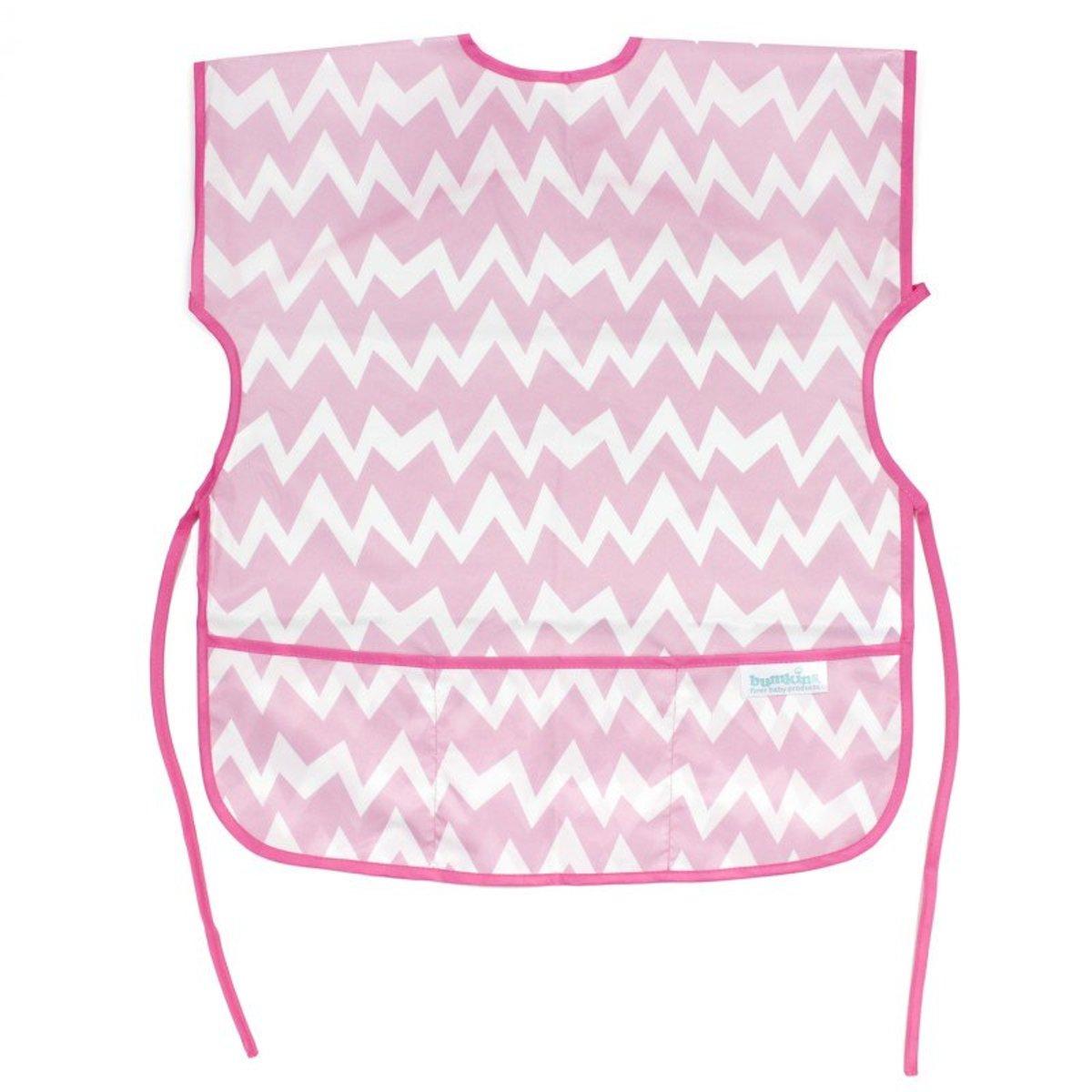 Short Sleeved Art Smock (Pink Chevron)