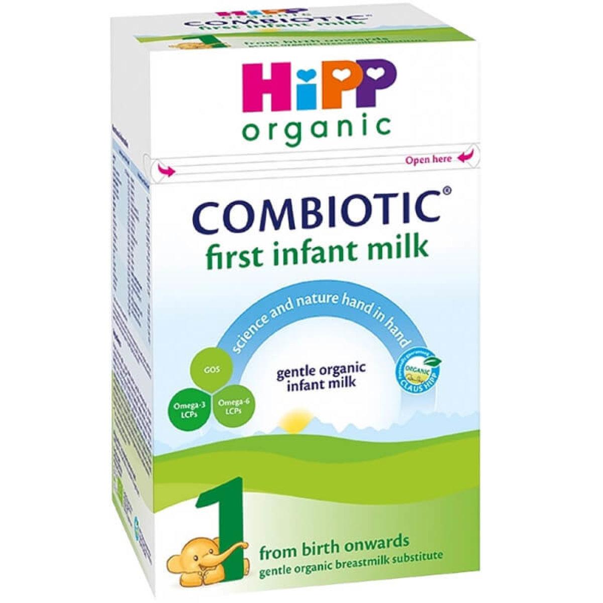 Hipp Organic (UK) 有機雙益嬰兒奶粉 (階段1 : 適合初生到6個月大的嬰兒) 800g