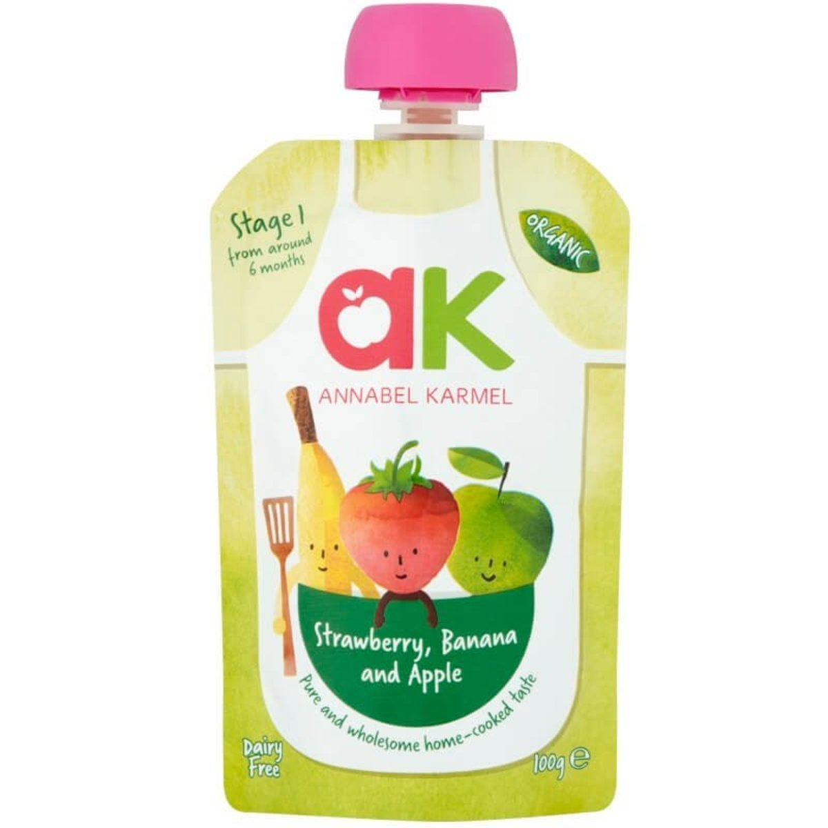 有機糊仔  (草莓,香蕉和蘋果) 100g|適合6個月以上嬰兒食用 嬰兒食品