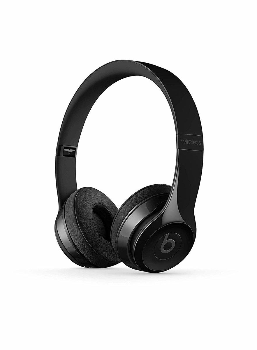 Beats Solo 3 無線藍牙立體聲頭戴式耳機 亮面黑 (平行進口)