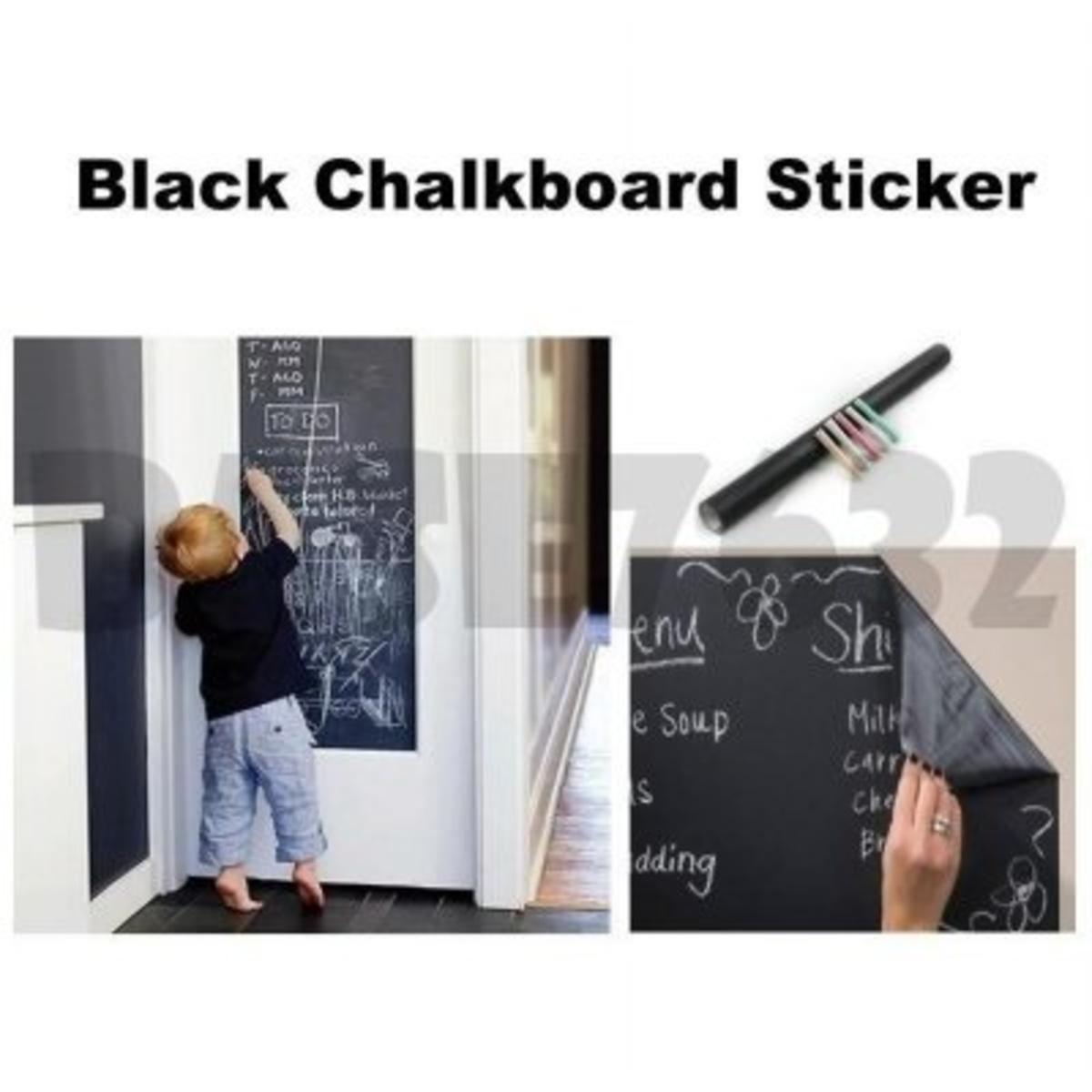 2塊多功能 DIY 黑板牆貼 (黑板)
