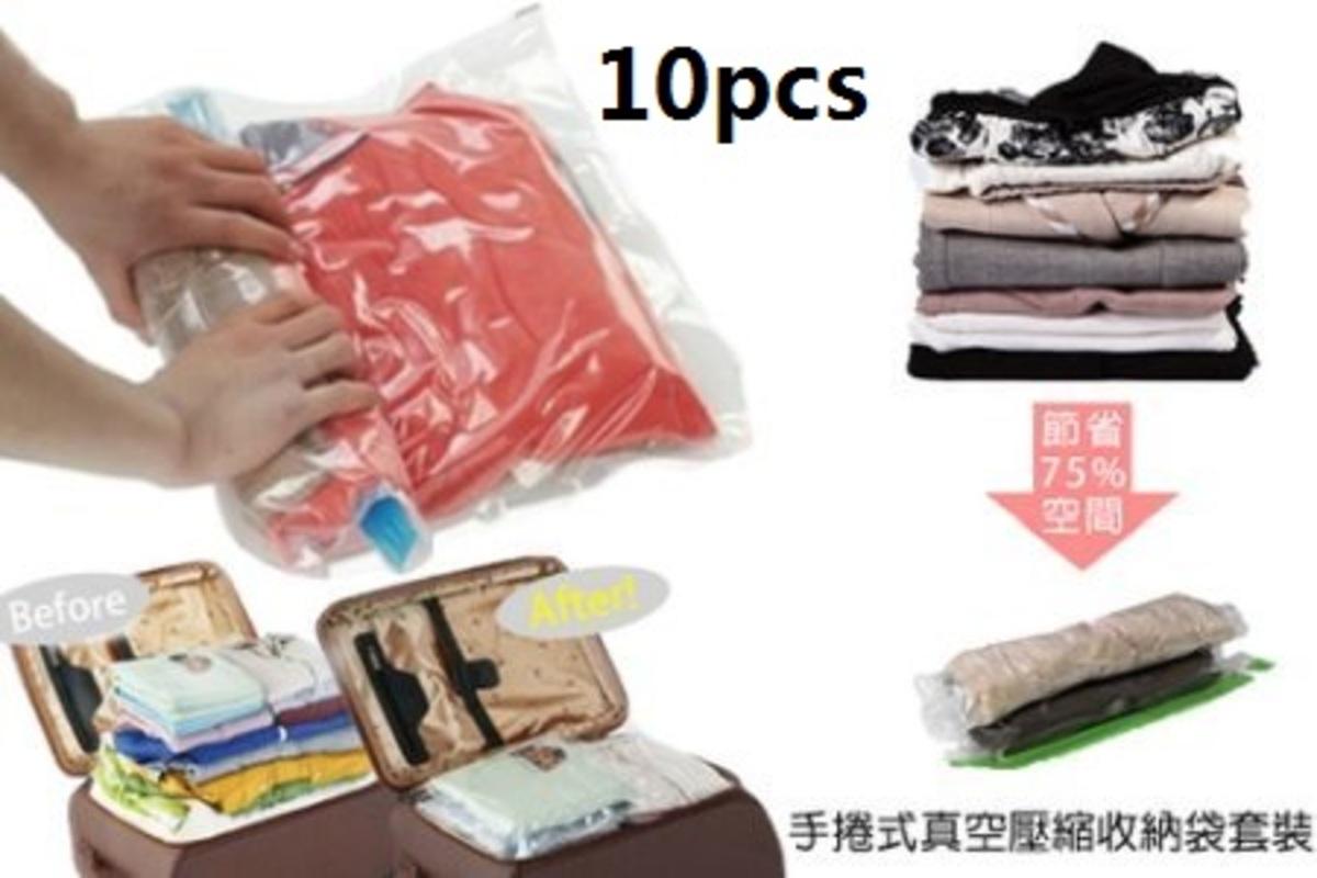 10pcs Hand-rolled vacuum compression storage bag (5L5S size)