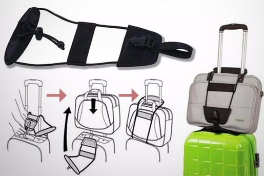 Bag Bungee Luggage Add-a-bag Strap. Travel Easier and More Secure