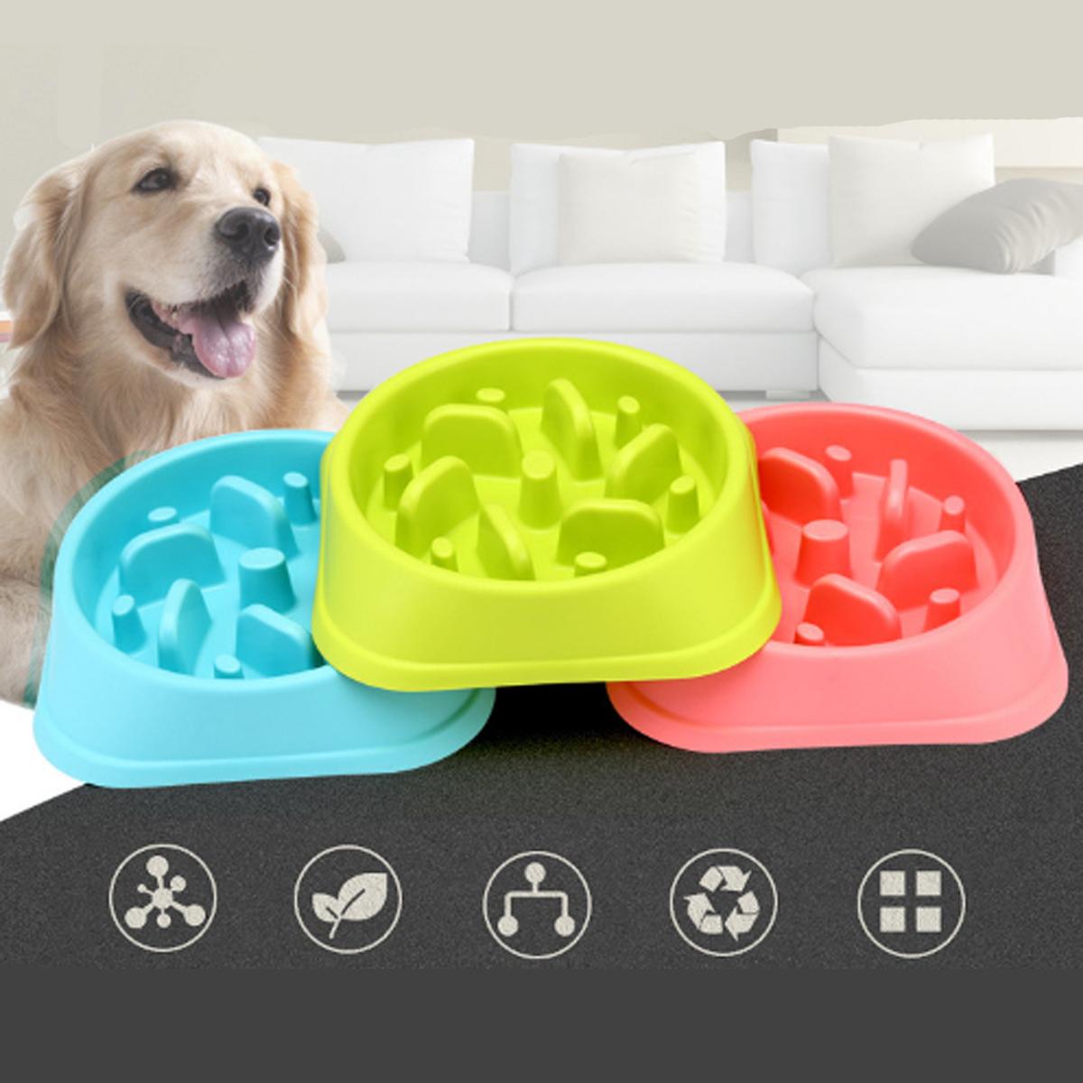 Pet Square Slow Food Bowl Dog Anti-mite Bowl