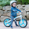 Bicycle with no pedals training bike blue