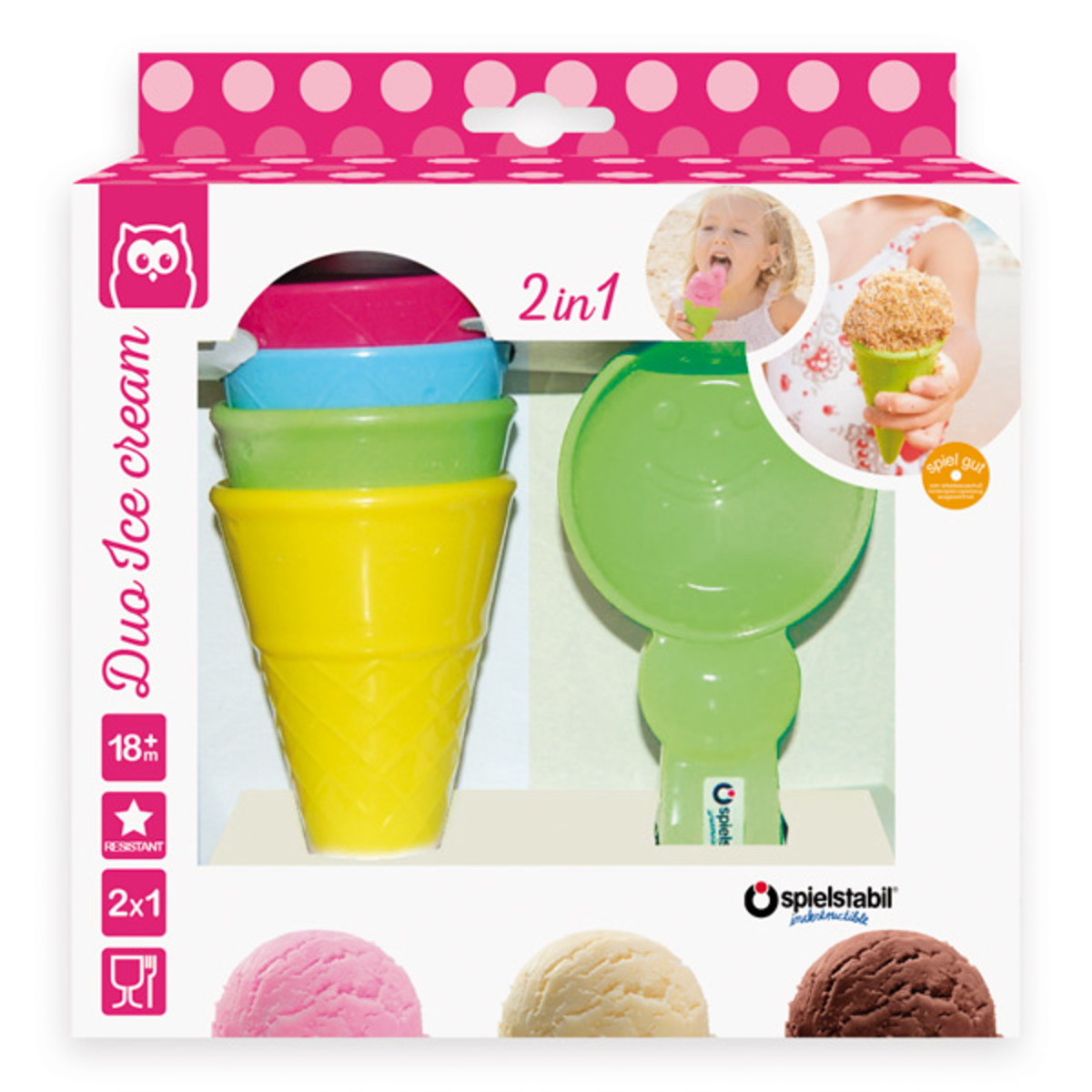 Kit for ice-cream 2 in 1