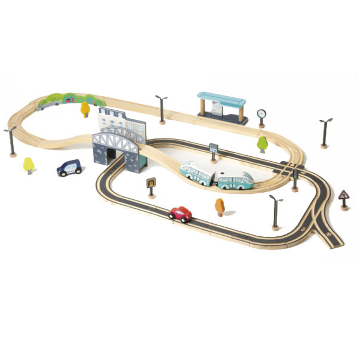 Electric train with circuit 67 pieces