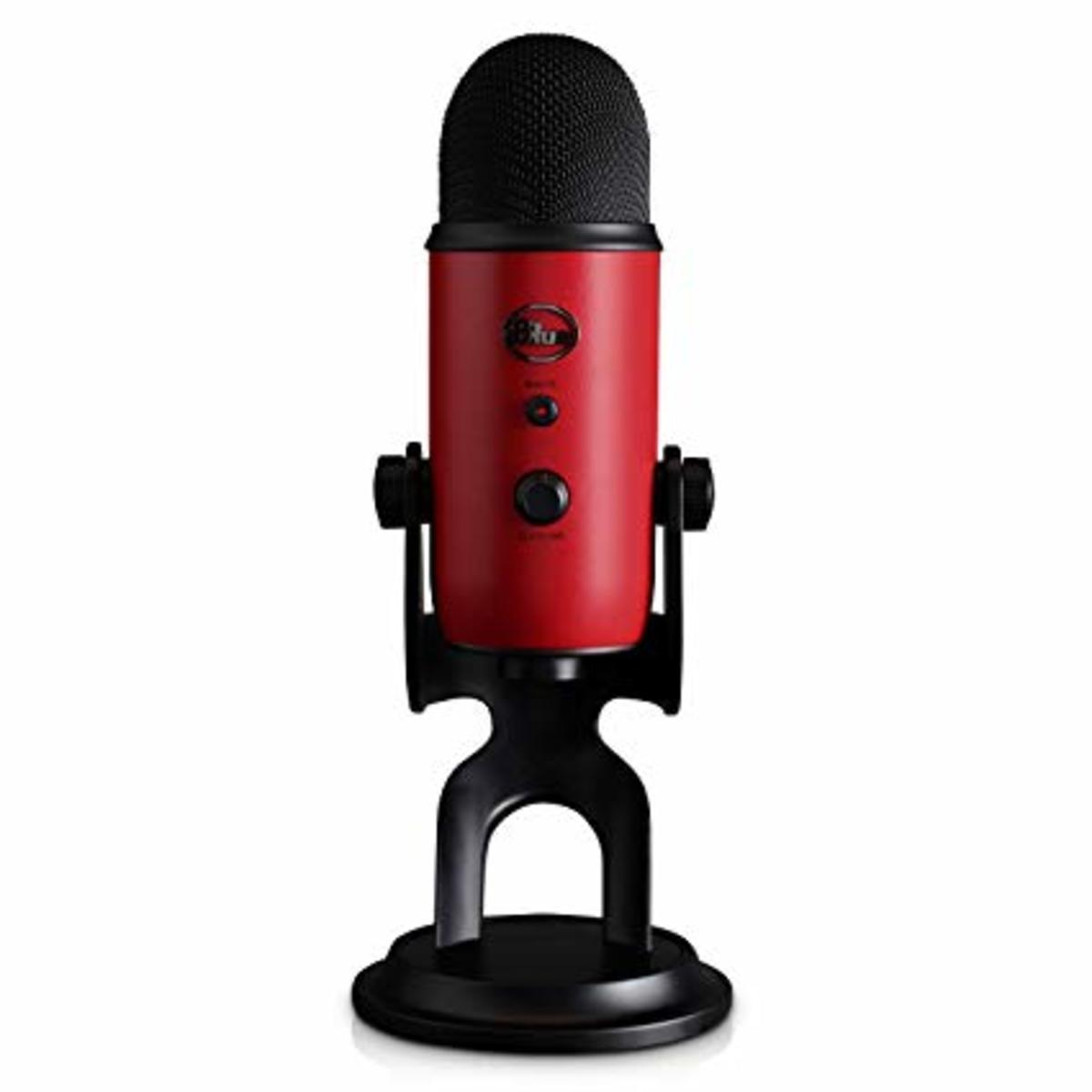 Yeti Red - Condenser USB Microphone