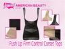 Push Up Firm Control Corset Tops Black L