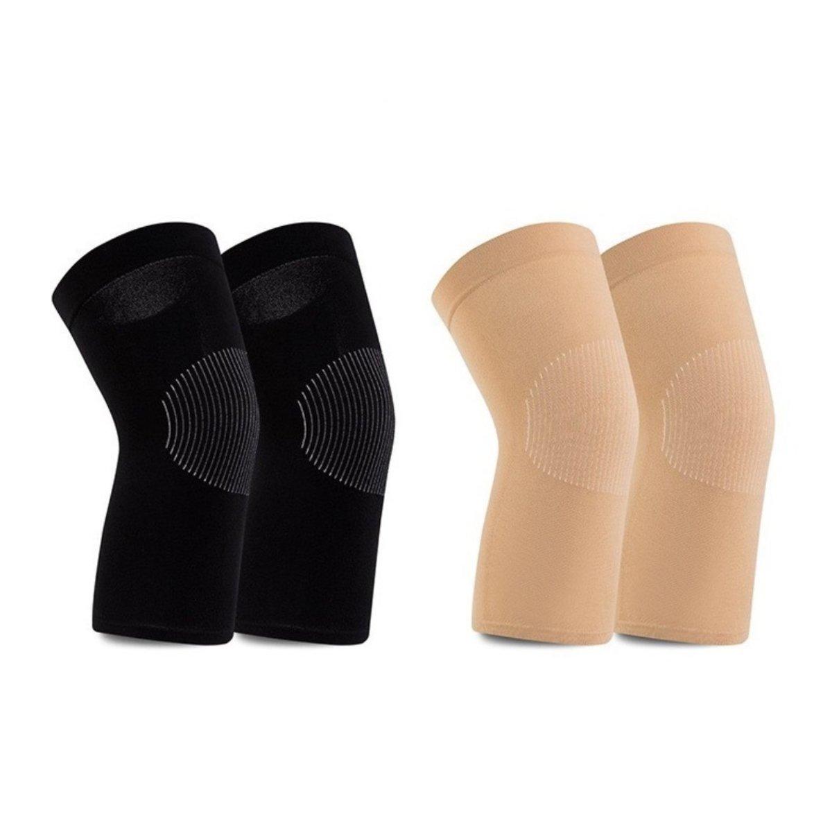 breathable knee warm pads black