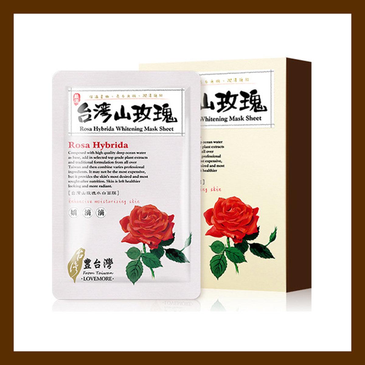 LOVEMORE 愛戀膜法 豐台灣 台灣 (1盒5片)水白 玫瑰面膜(4710155270970)