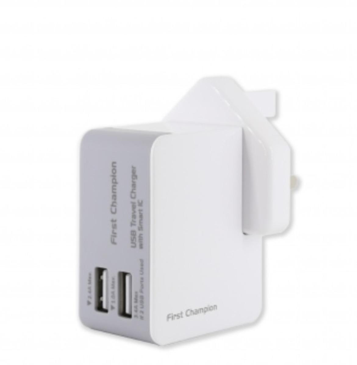 FIRST CHAMPION 2USB Ports 旅行充電器 Universal Travel chargers, FC-UTC203