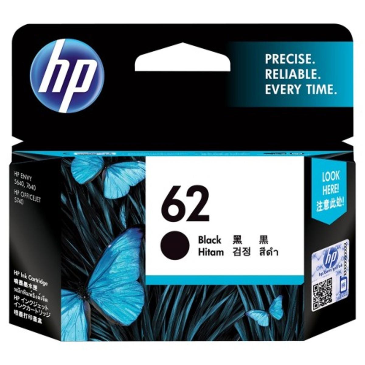 HP 62 BLACK INK