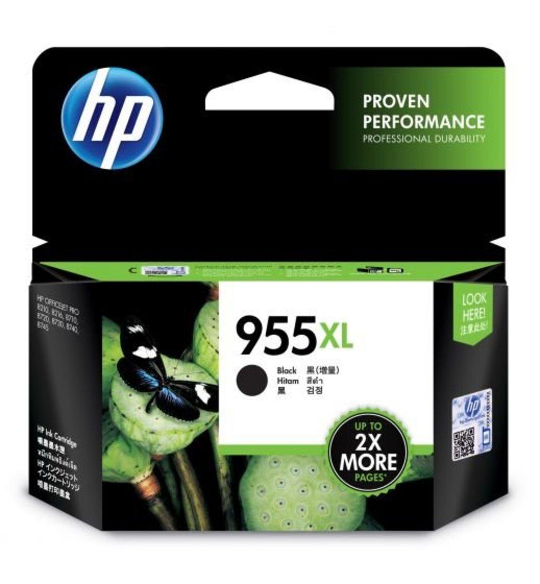 HP 955XL 高打印量黑色原廠墨水盒 (Black)