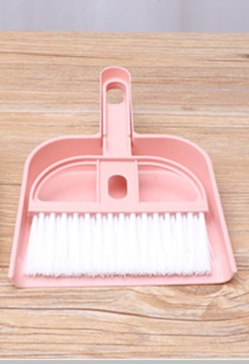 掃把簸箕套裝 MINI DUSTPAN SET (LIGHT PINK)