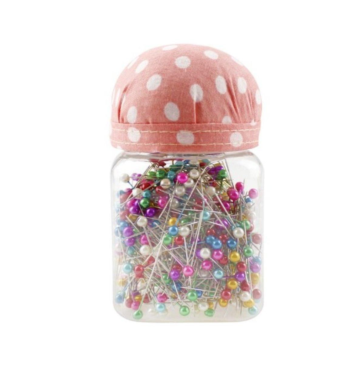 彩色珠光針縫紉定位瓶套裝 (PINK)