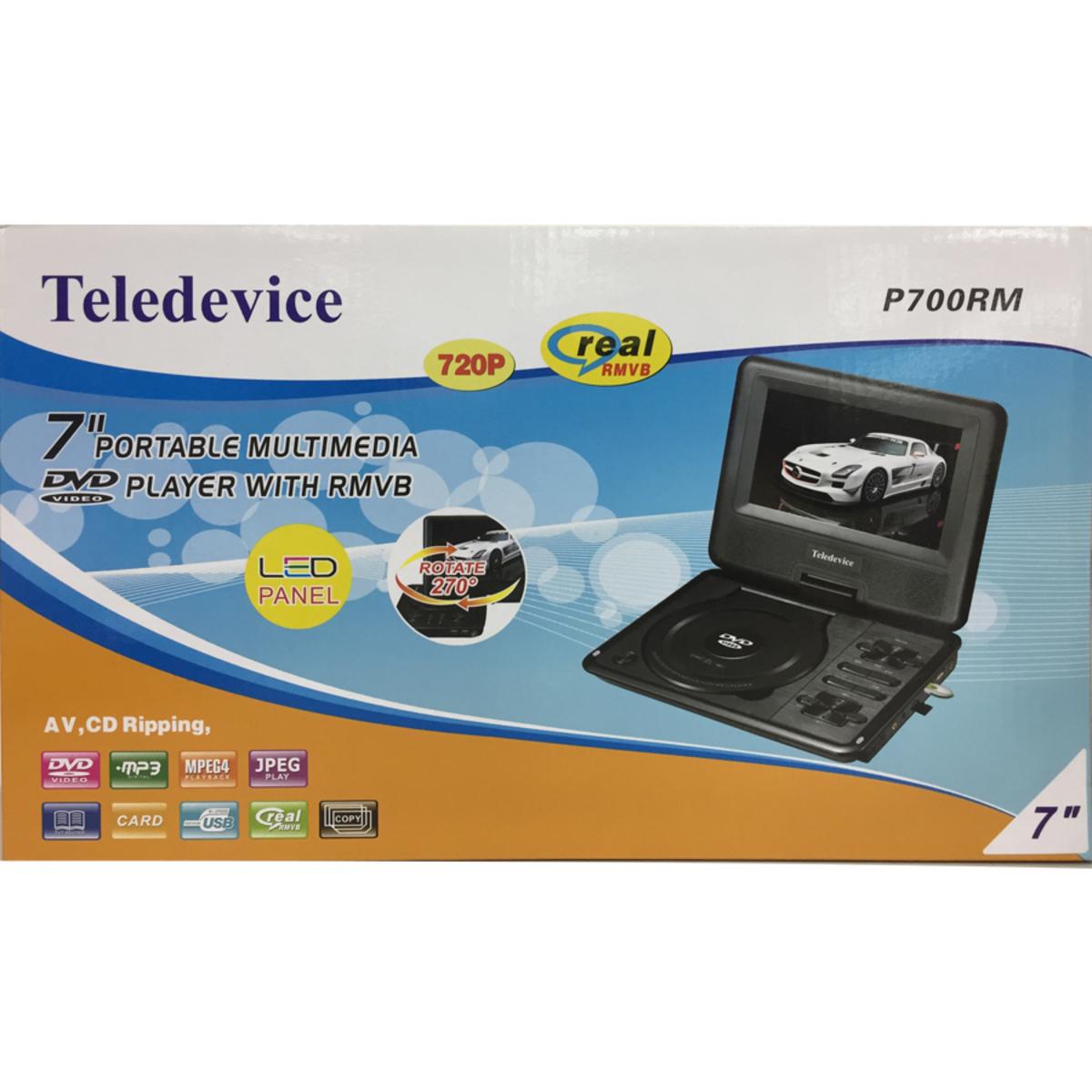 "TELEDEVICE P700RM 7"" LED panel Portable DVD+RMVB"