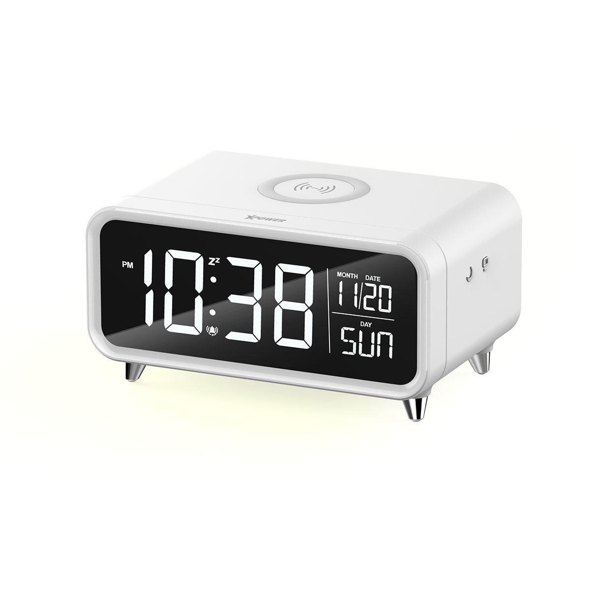 無線充電鬧鐘及音樂播放器 (WHITE)