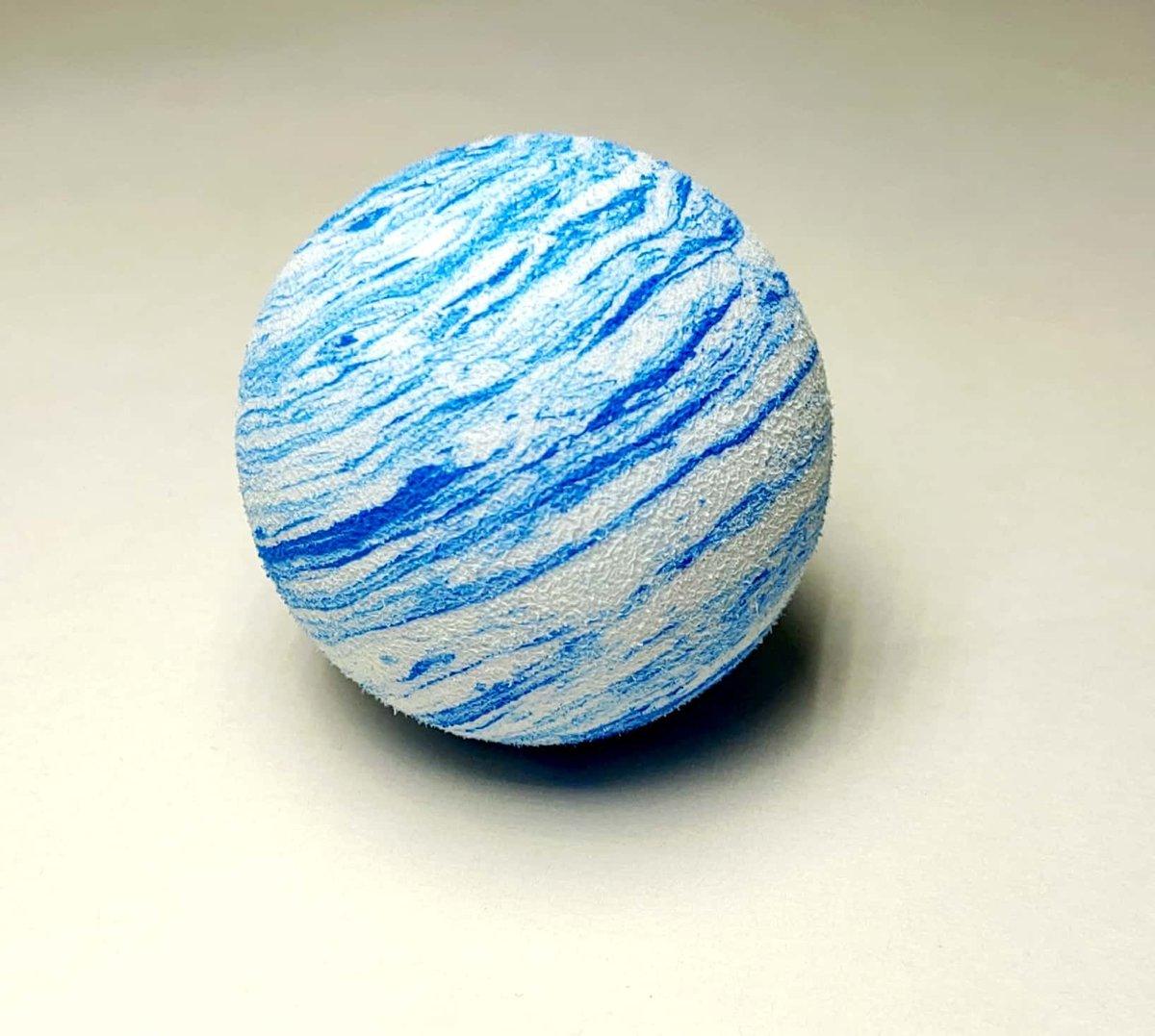 彩虹球 寵物球 狗遊樂場玩具(BLUE AND WHITE) 4cm直徑