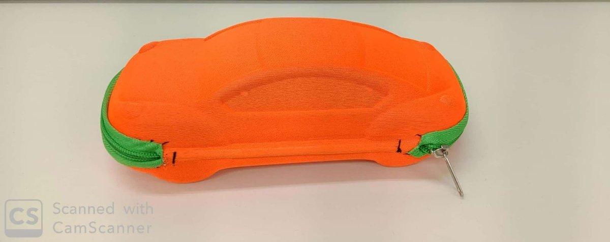 卡通汽車型兒童太陽眼鏡盒 橙色
