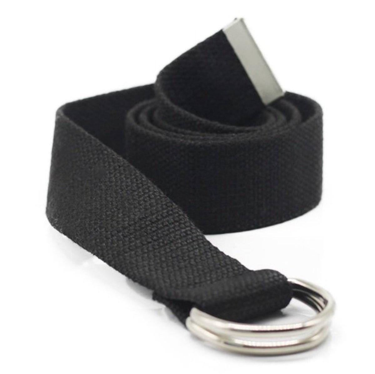 淨色帆布腰帶 (BLACK) (width:3.8cm lenght: 110cm)