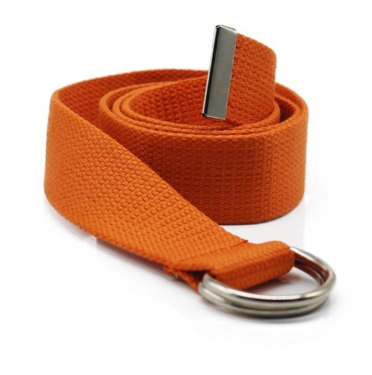 Canvas belt (orange) (width:3.8cm lenght: 110cm)