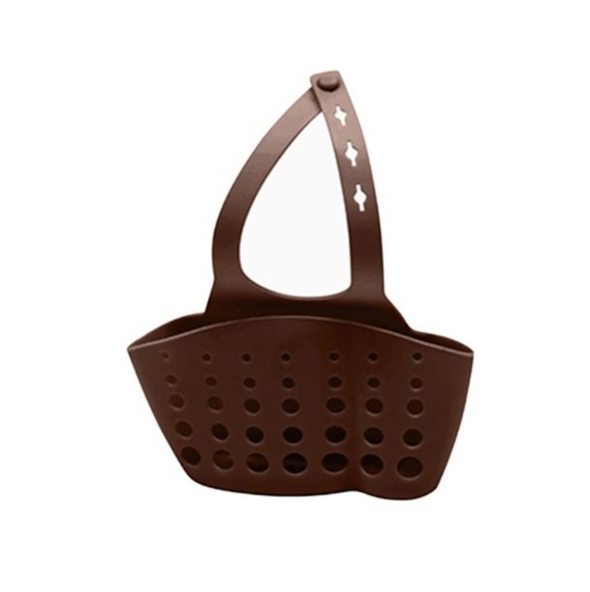 sink storage basket (brown) (length 10x width 4x height 8cm)