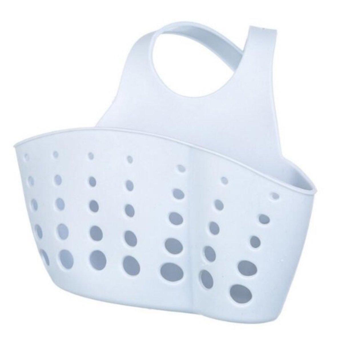 Adjustable snap-in sink storage basket (purple) (length 10x width 4x height 8cm)