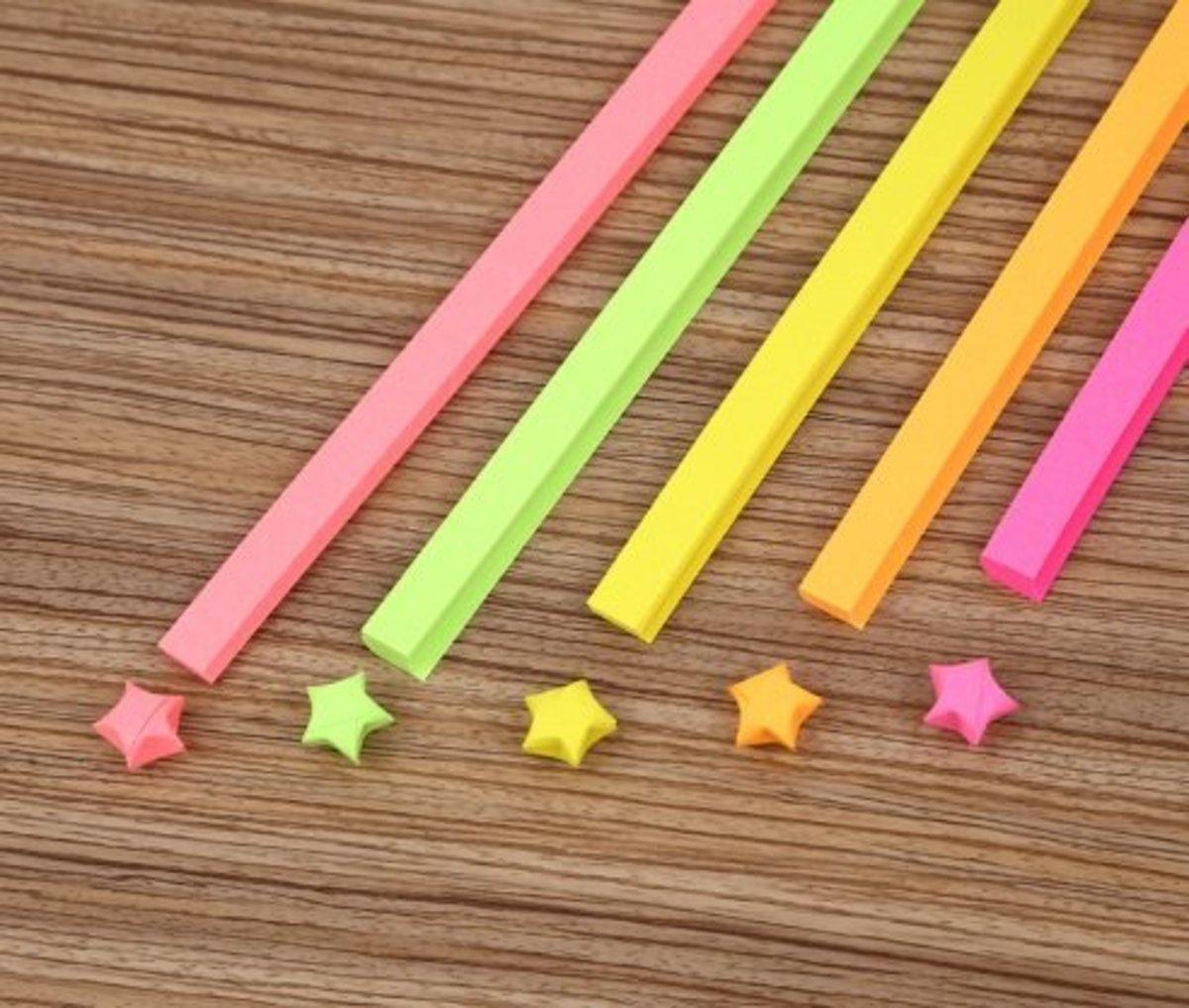 星星條 幸運星物 彩色折疊紙 REMARK :一包(50張)YELLOW