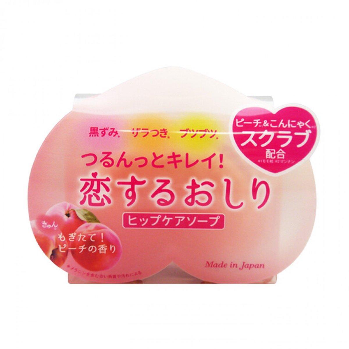 Pelican 沛麗康 蒟蒻臀部PP 去角質保濕蜜桃皂 80g (全身可用淡化黑色素) 粉膠盒