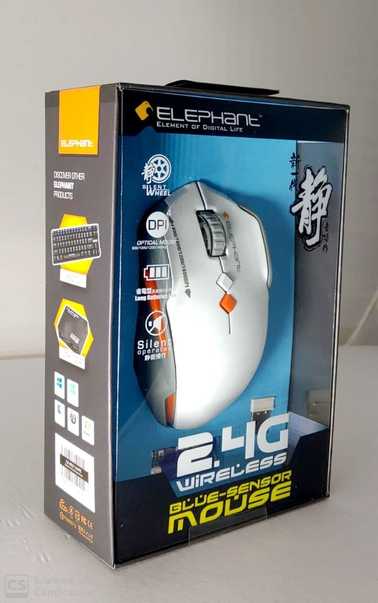 ELE-M521-WHITE WIRELESS 2.4 GHz MOUSE