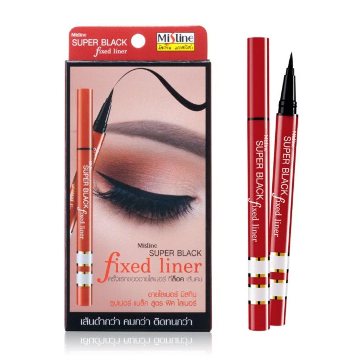 泰國 Mistine Mistine Super Black Fixed Liner 紅管超激黑眼線液筆 1g  紅色