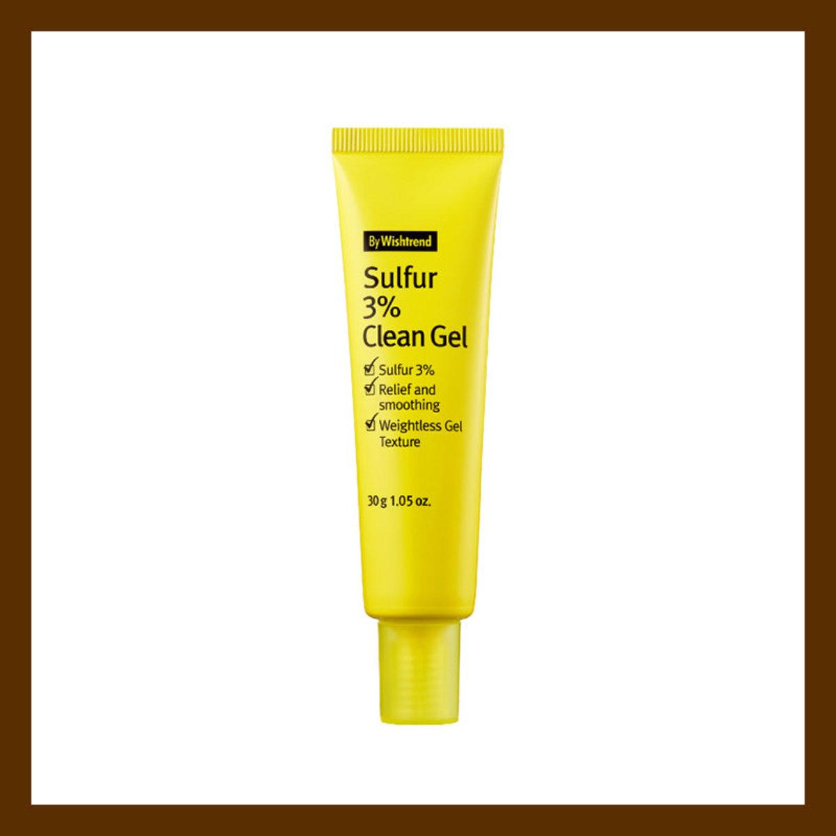 BY WISHTREND Sulfur 3% Clean Gel 3%硫磺抗痘o者喱 30g