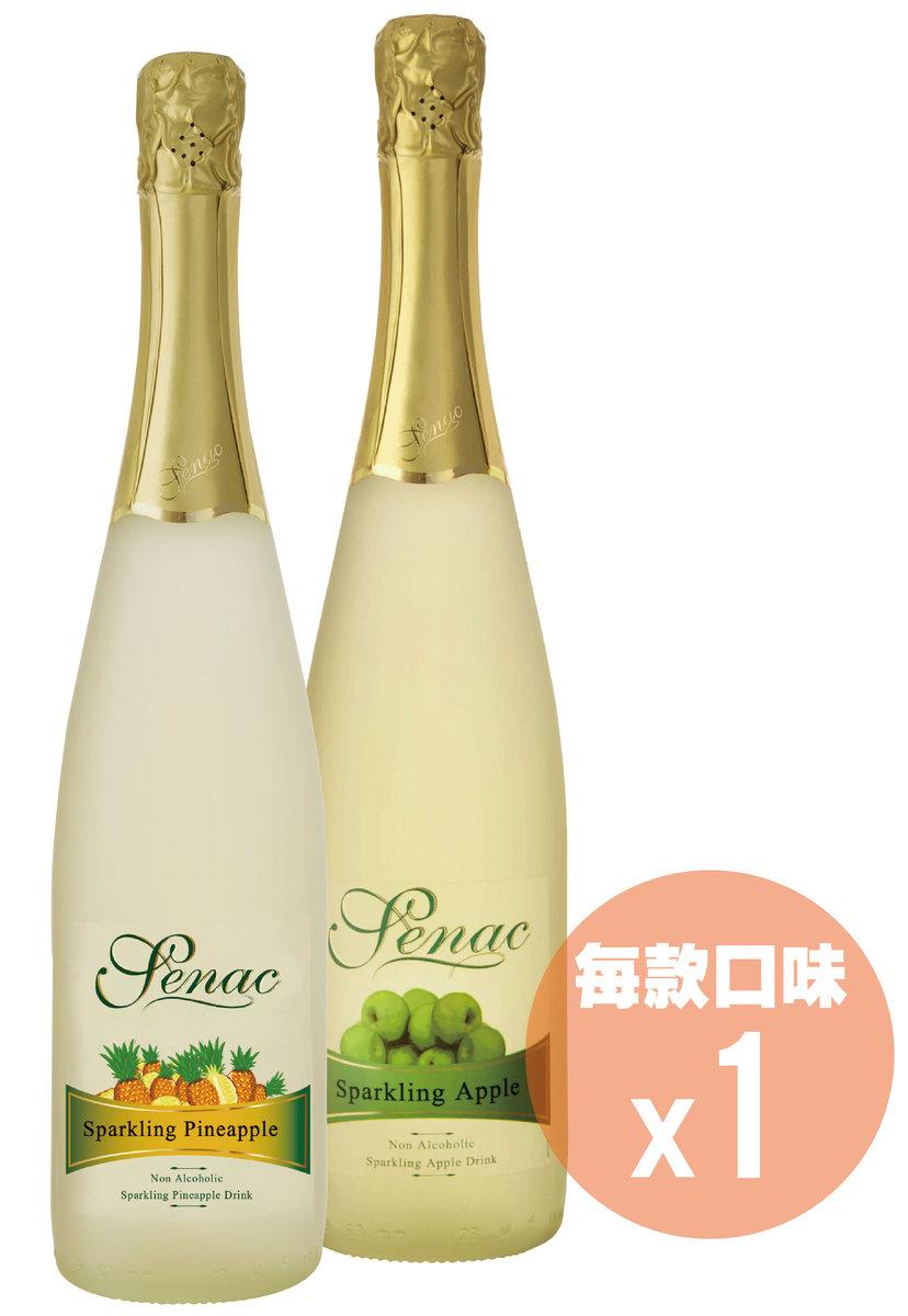 [2支] 0%無酒精果味香檳 - 菠蘿 + 青蘋果