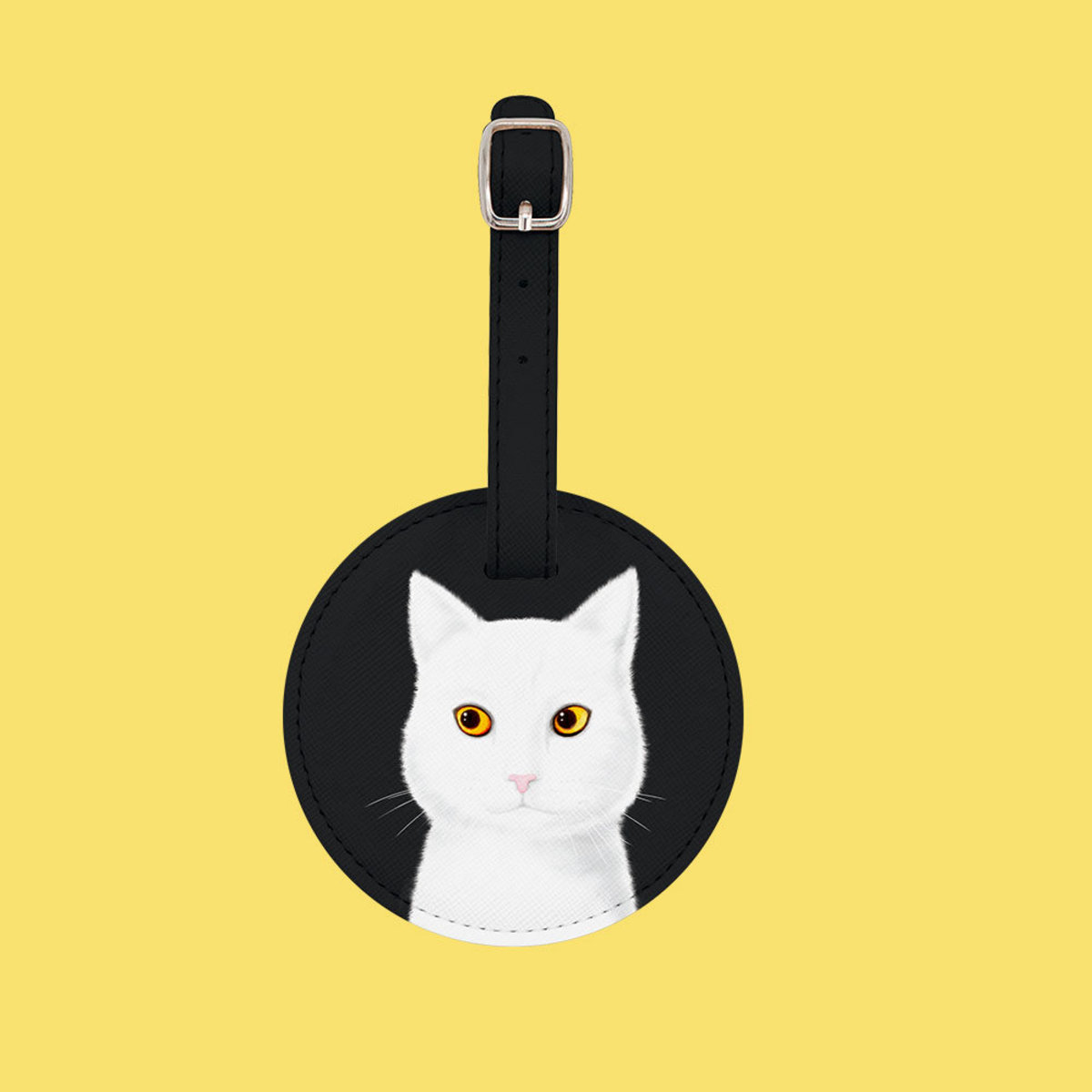 Flying Mouse 365. Not me (White Cat) Luggage Tag