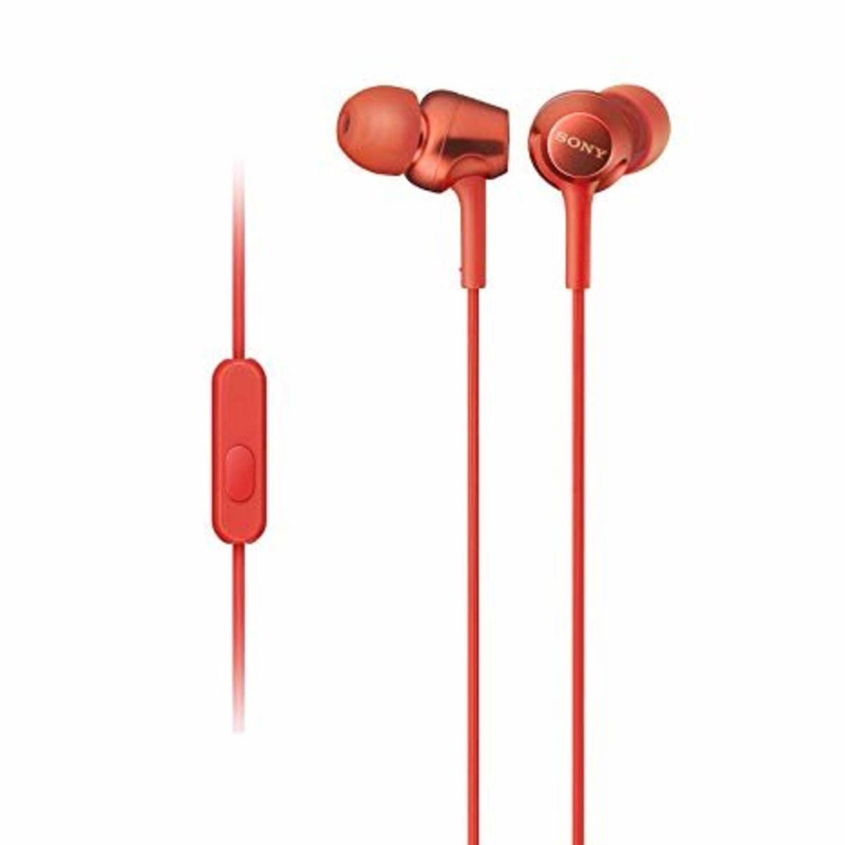 MDR EX255AP High Quality In-Ear Stereo Headphones / Red (Parallel imported)