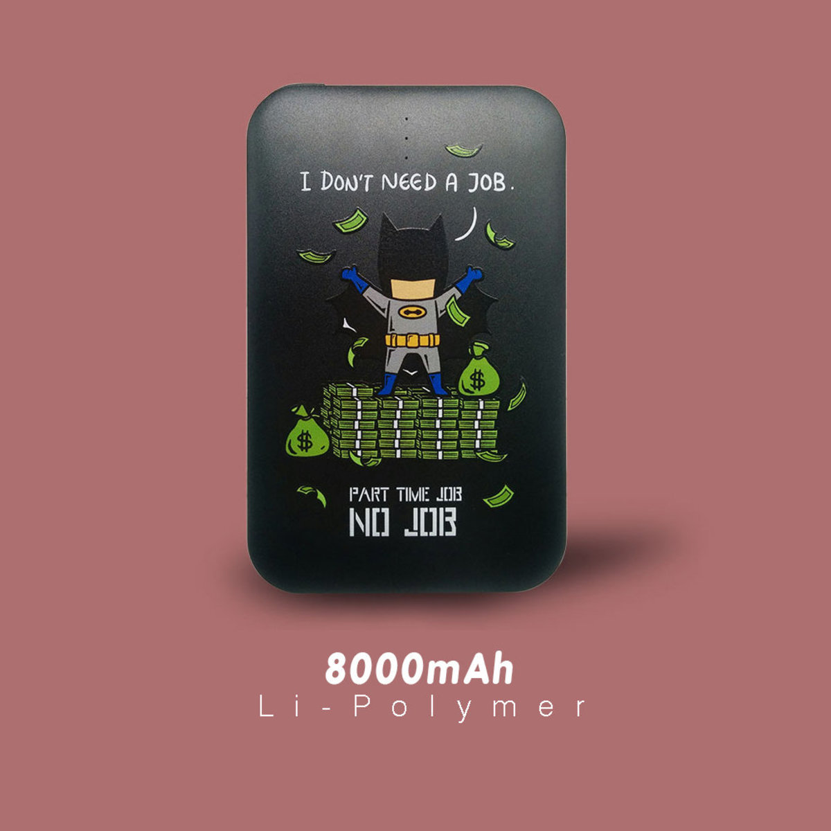 Flying Mouse 365. Part time job series (No Job) / 8000mAh Power Bank (Black)