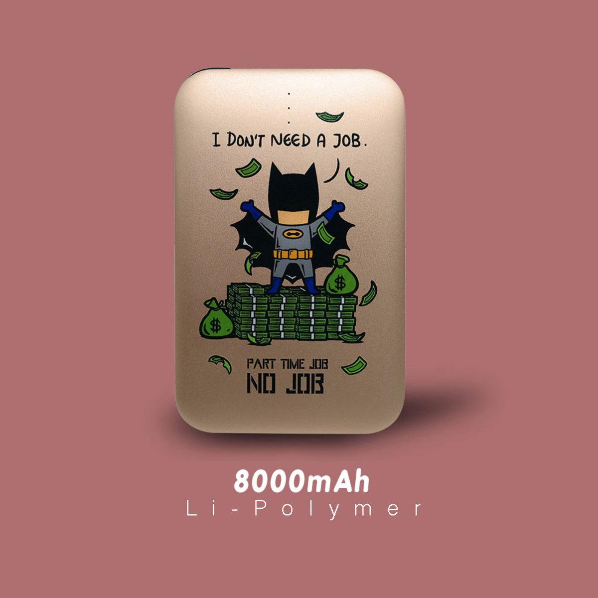 Flying Mouse 365. Part Time Job Series (No Job)/ 8000mAh  快速.輕便.安全.行動電源