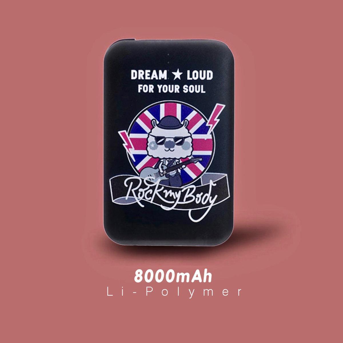 Sing Sing  Rabbit . Rock on Music / 8000mAh 快速. 輕便. 安全. 行動電源