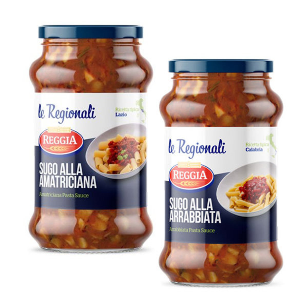 Arrabbiata x Amatriciana (350g) x2 Bottle Italian Reggia Pasta Sauce 香辣茄醬 x 蕃茄培根醬