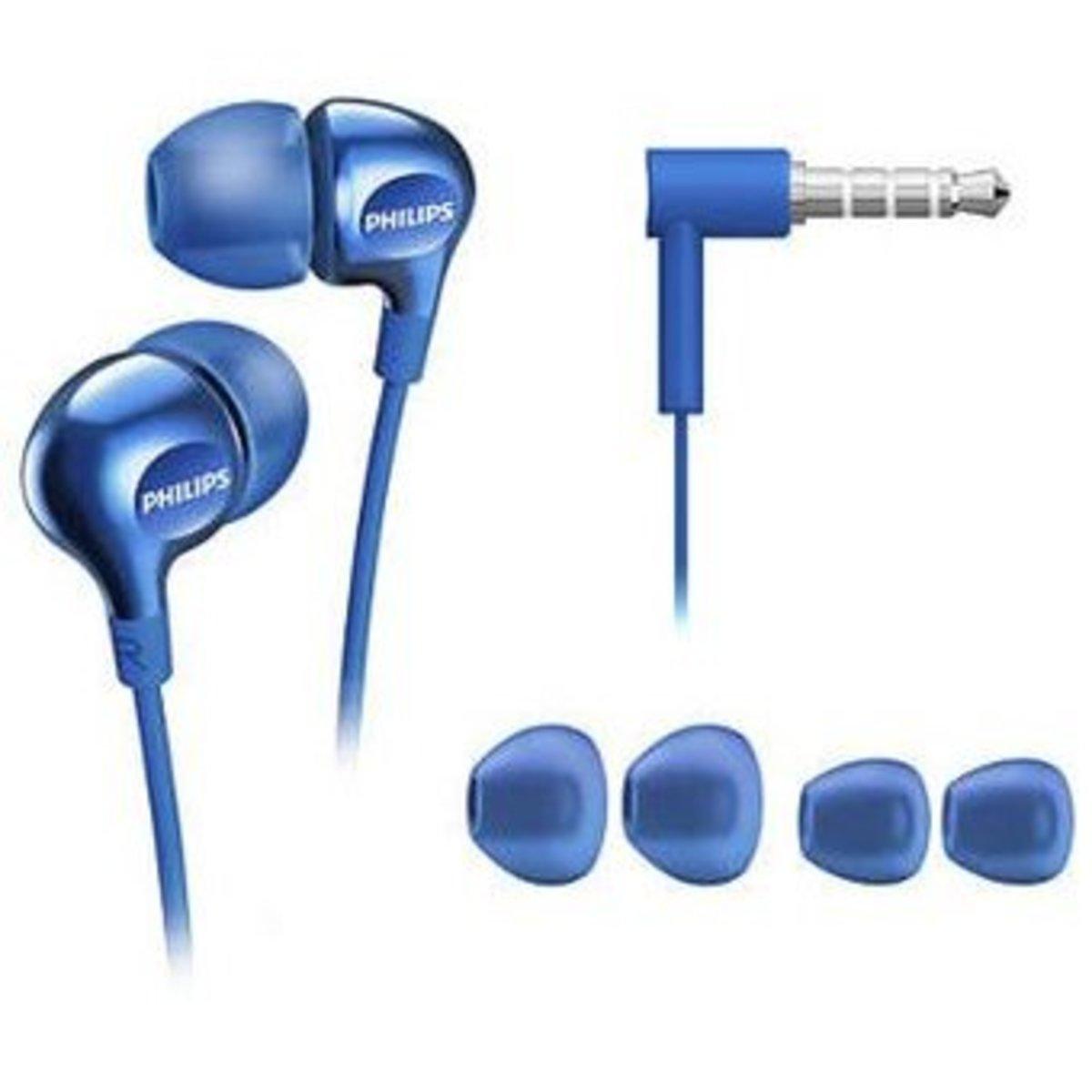 SHE3705 入耳式立體聲耳機連麥克風/藍色 (平行進口)