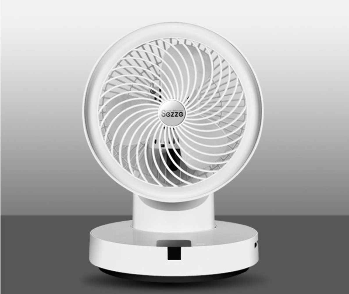 Sezze 360 Rotary Silent Cycle Fan (SS-648) White/ Hong Kong license product