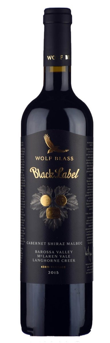 Wolf Blass Black Label Cabernet Shiraz Malbec 43rd 2015 (cork)