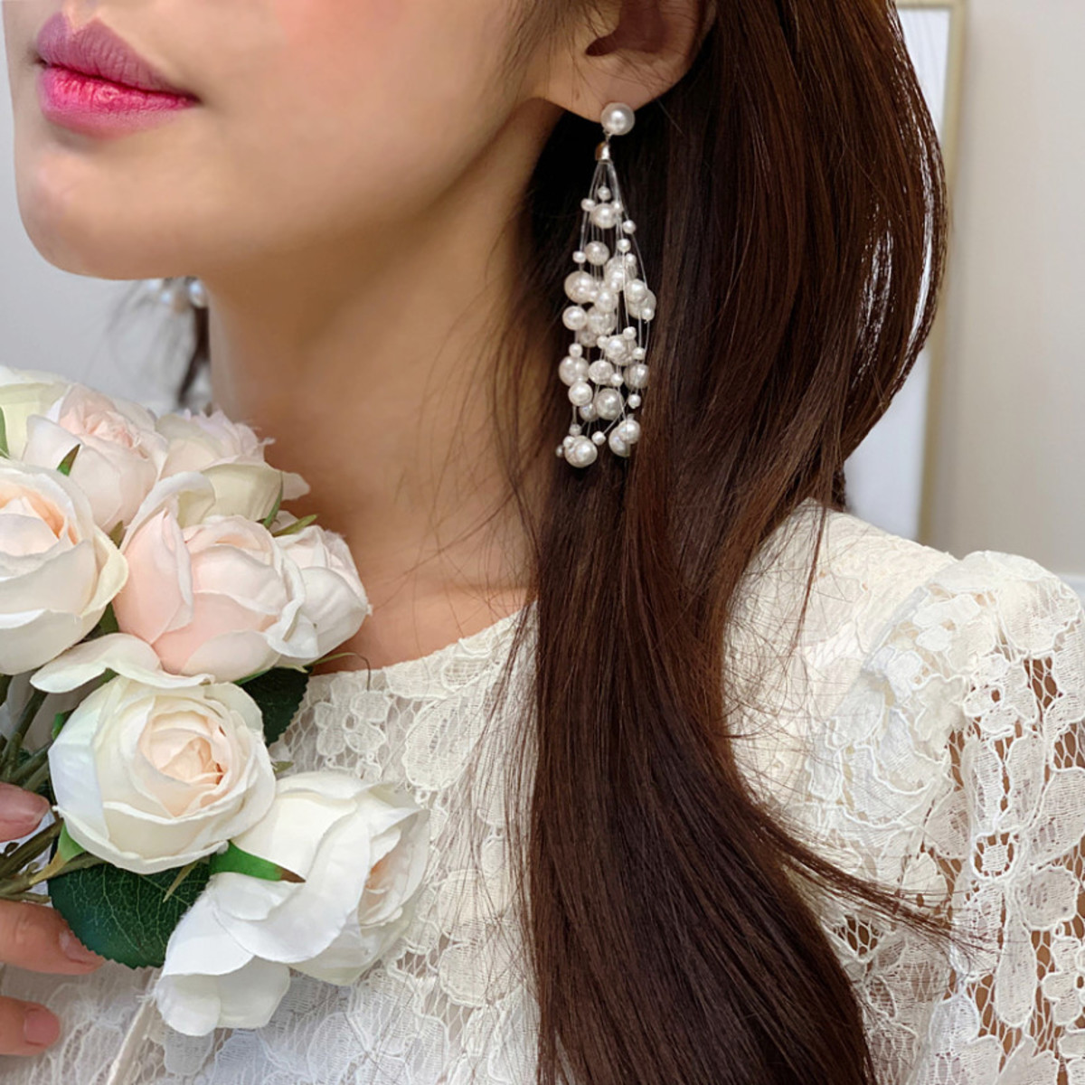 Pearl Bouquet Pearl Earring