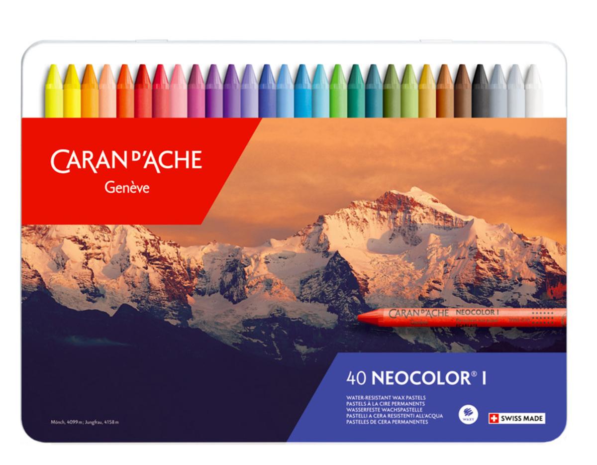 Neocolor I 40色油性蠟筆