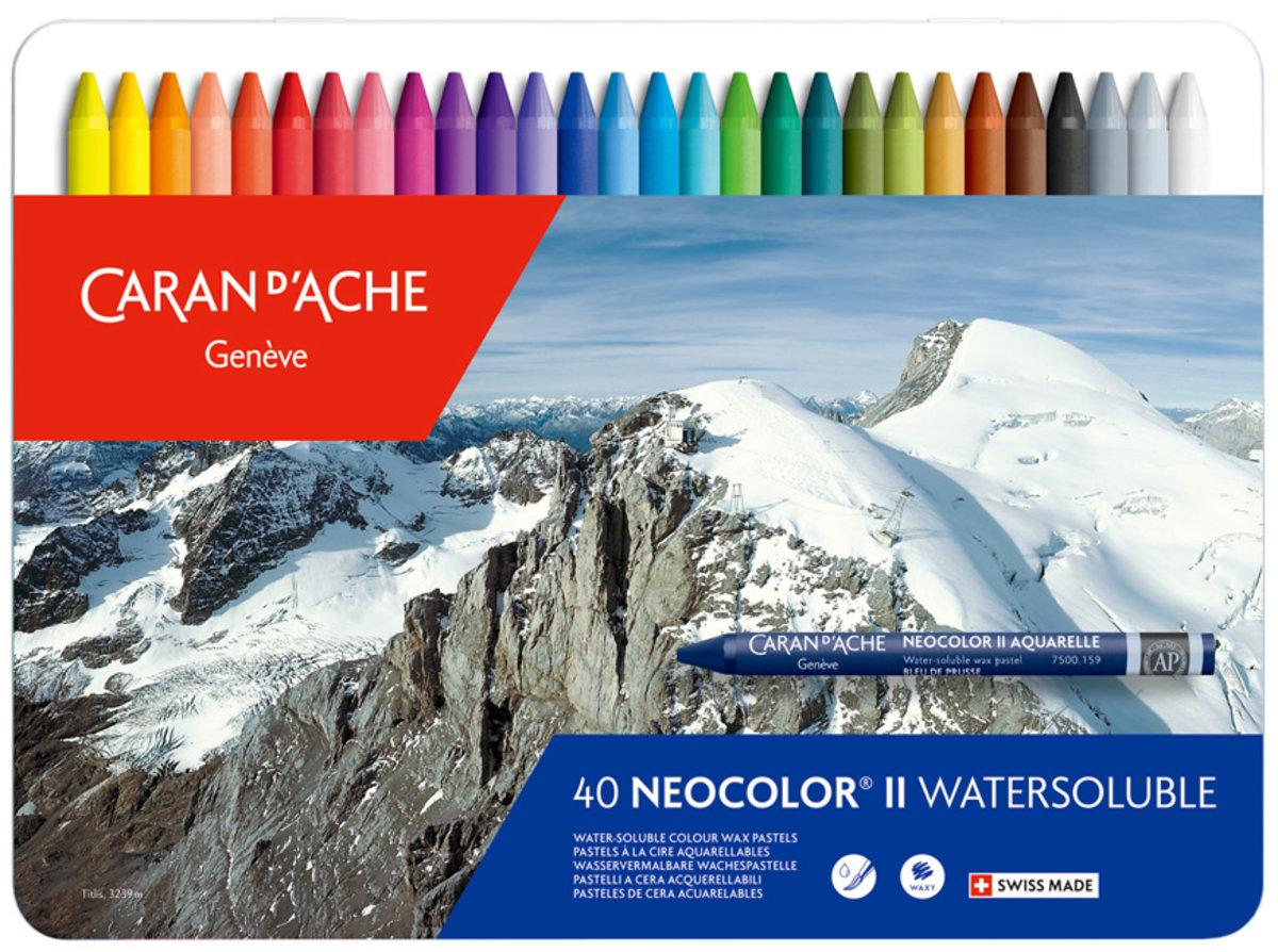 Neocolor II 40色水溶性蠟筆